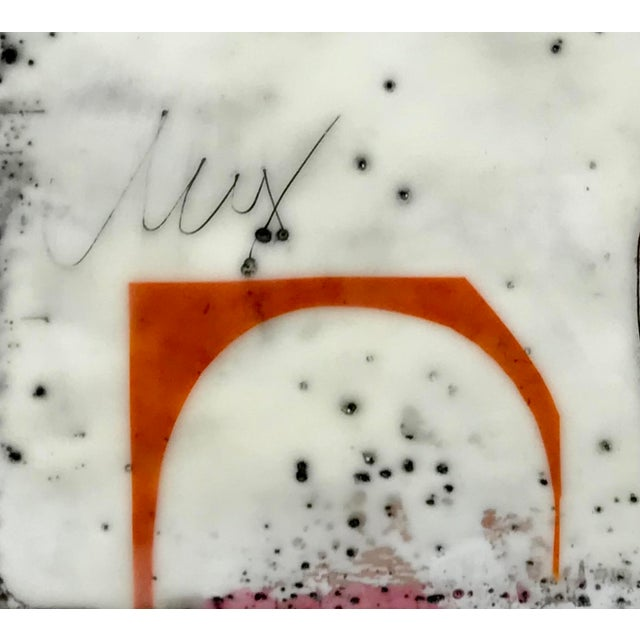 """2010s """"Perceptions No. 12"""" Original Encaustic Collage Painting by Gina Cochran For Sale - Image 5 of 6"""