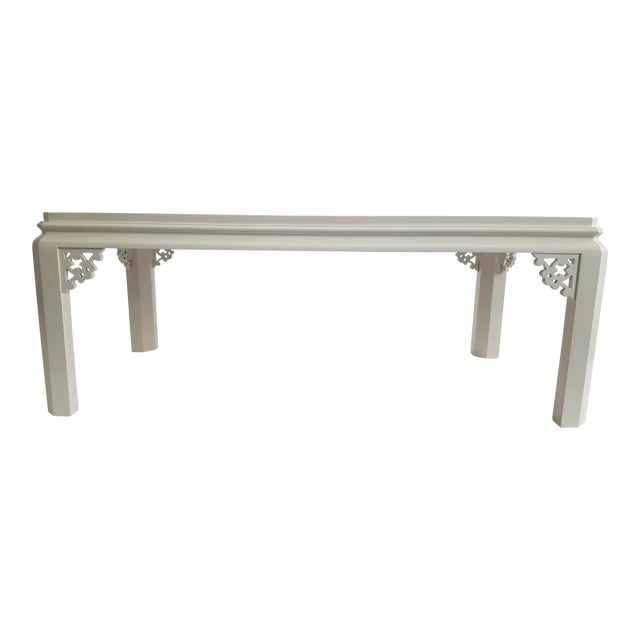Lacquered Fretwork Coffee Table - Image 1 of 4