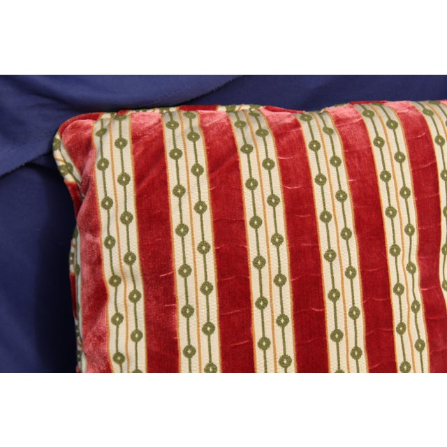 Mid C. Down Filled Possibly Silk Velvet, Unique Pillow For Sale - Image 9 of 10