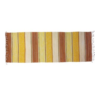 """New Handwoven Reversible Vintage Swedish Rug by Scandinavian Made 86"""" x 30"""" For Sale"""
