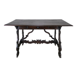 18th Century Italian Walnut Writing Table For Sale