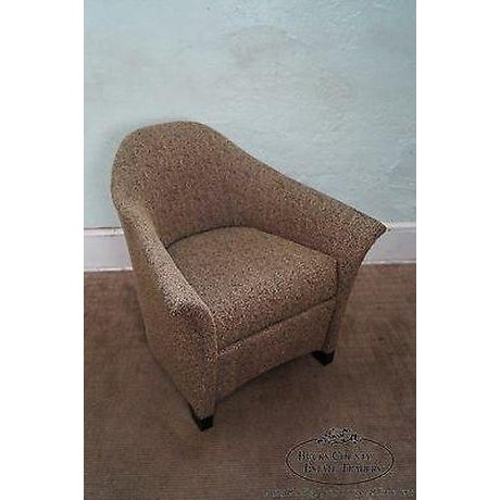 1990s Thomasville Casa Bique Leopard Print Club Lounge Chair For Sale - Image 5 of 13