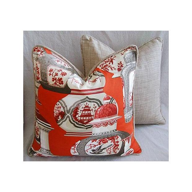 Custom Braemore Chinoiserie Vase Pillows - Pair - Image 6 of 8
