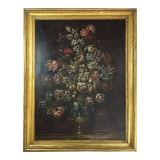 Late 19th Century Italian Style Floral Still Life For Sale