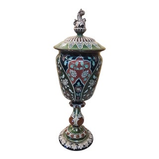 Anique Royal Bonn Old Dutch Hand Painted Urn For Sale