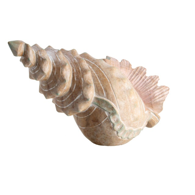 Handcrafted Wooden Seashell Sculpture - Image 2 of 8