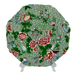 Spode's New Fayence King Chintz Pattern Transferware Plate, Circa 1820s For Sale