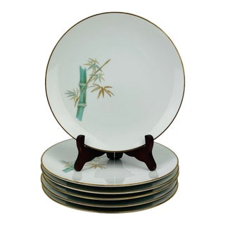 "Vintage Noritake ""Oriental"" Pattern Salad Plates, Set of 6 For Sale"