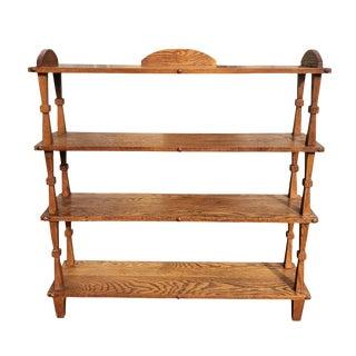 Antique Mission Oak Arts & Crafts Plant Book Shelf For Sale