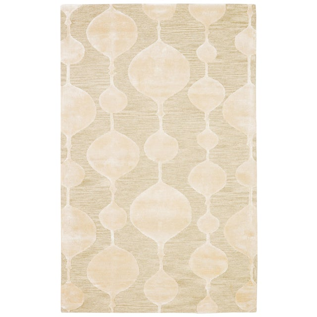 Nikki Chu by Jaipur Living Sui Handmade Geometric Beige/ Cream Area Rug - 8′ × 10′ For Sale