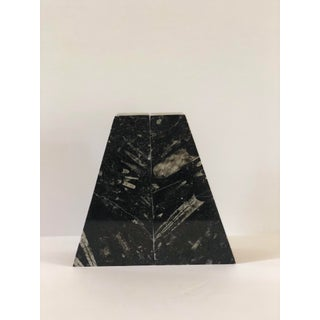 1970s Vintage Modern Black Marble Bookends – a Pair Preview