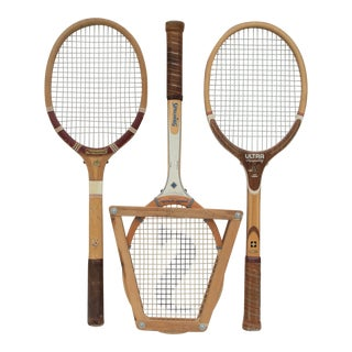 Vintage Tennis Raquet Trio - Set of 3 For Sale