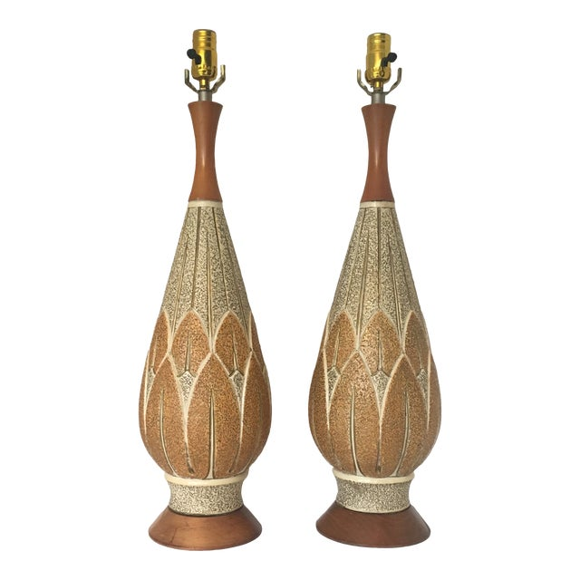 Mid-Century Modern f.a.i.p. Table Lamps - a Pair For Sale