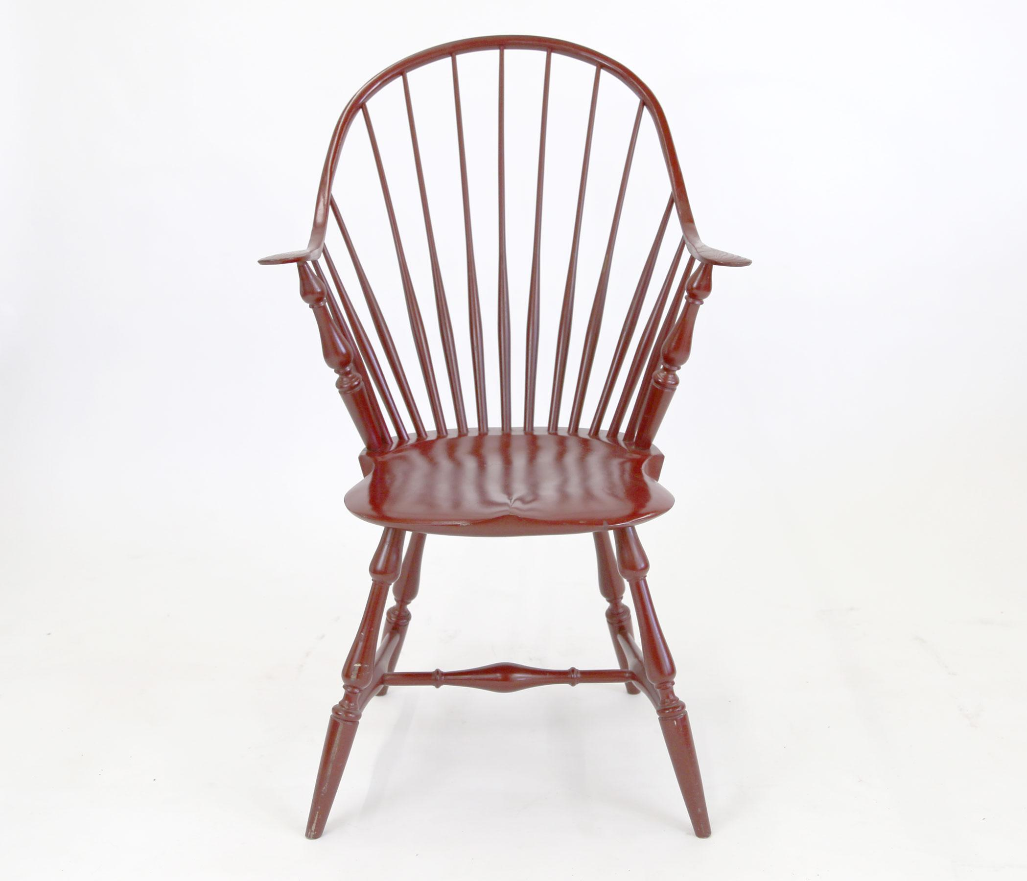 Shaker Style Windsor Captainu0027s Chair In Red   Image 3 ...