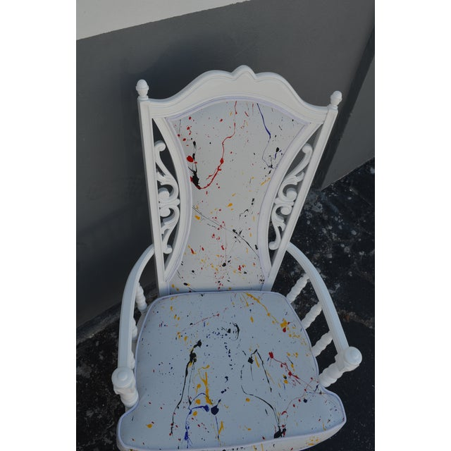 Vintage Mid-Century Hollywood Regency Style Chair For Sale - Image 9 of 13