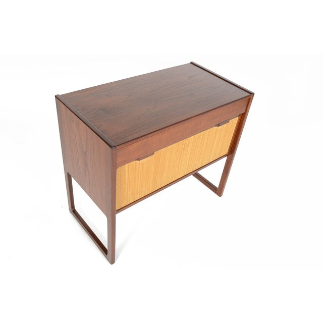 Danish Modern Teak and Grasscloth Entry Chest - Image 6 of 10