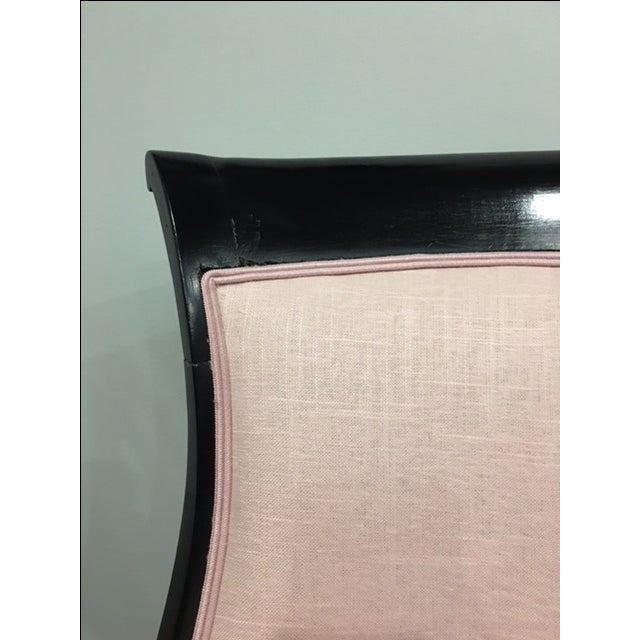 Pink 19th Century Ebonized Chair - Image 4 of 8