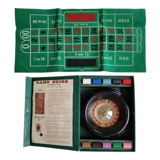 Club Roulette Wheel Game Complete Set - Bakelite