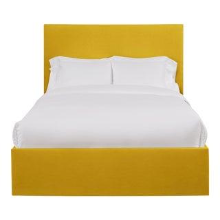 Hadley California King Headboard, Golden Velvet For Sale
