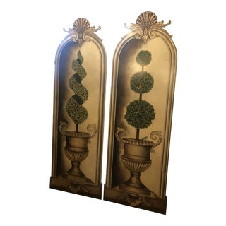 Maitland Smith Topiary Wall Panels - a Pair For Sale