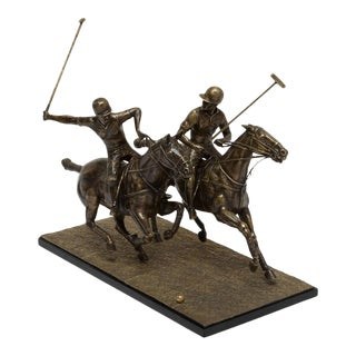 Scarborough House Polo Players Brass Figure For Sale