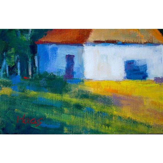 "Cottage ""Harmony, CA"" Plein Air Oil Painting For Sale - Image 3 of 6"