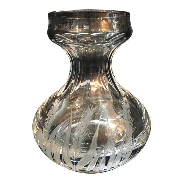 William Yeoward Crystal Bulb Forcing Vase Chairish