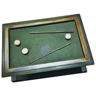 Antique Vienna Bronze Desk Paperweight Matchbox, Circa 1880s For Sale