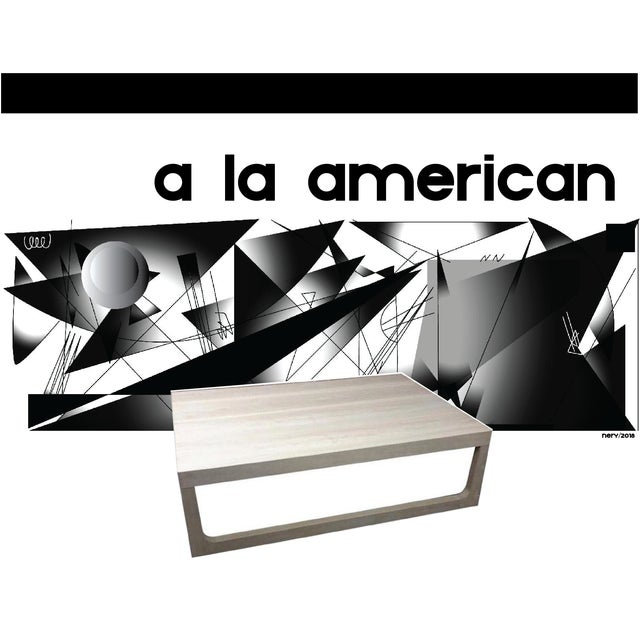 "Style The Du Table"" Detail- Signature base. Color - Bone. Fabricated in White Oak Subject to change/availability* ""48 W x..."