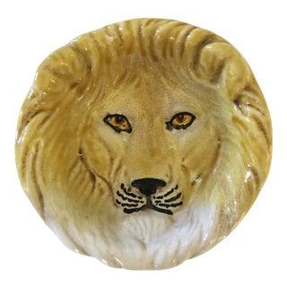 Vintage Italian Mid-Century Modern Golden Lion Bowl/Catchall For Sale