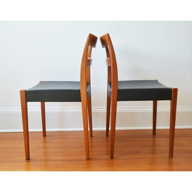 """Wood Swedish Modern Teak """"Garmi"""" Dining Chairs by Nils Jonsson for Troeds - a Pair For Sale - Image 7 of 11"""