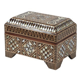 Large Mother-Of-Pearl Inlaid Jewelry Box For Sale
