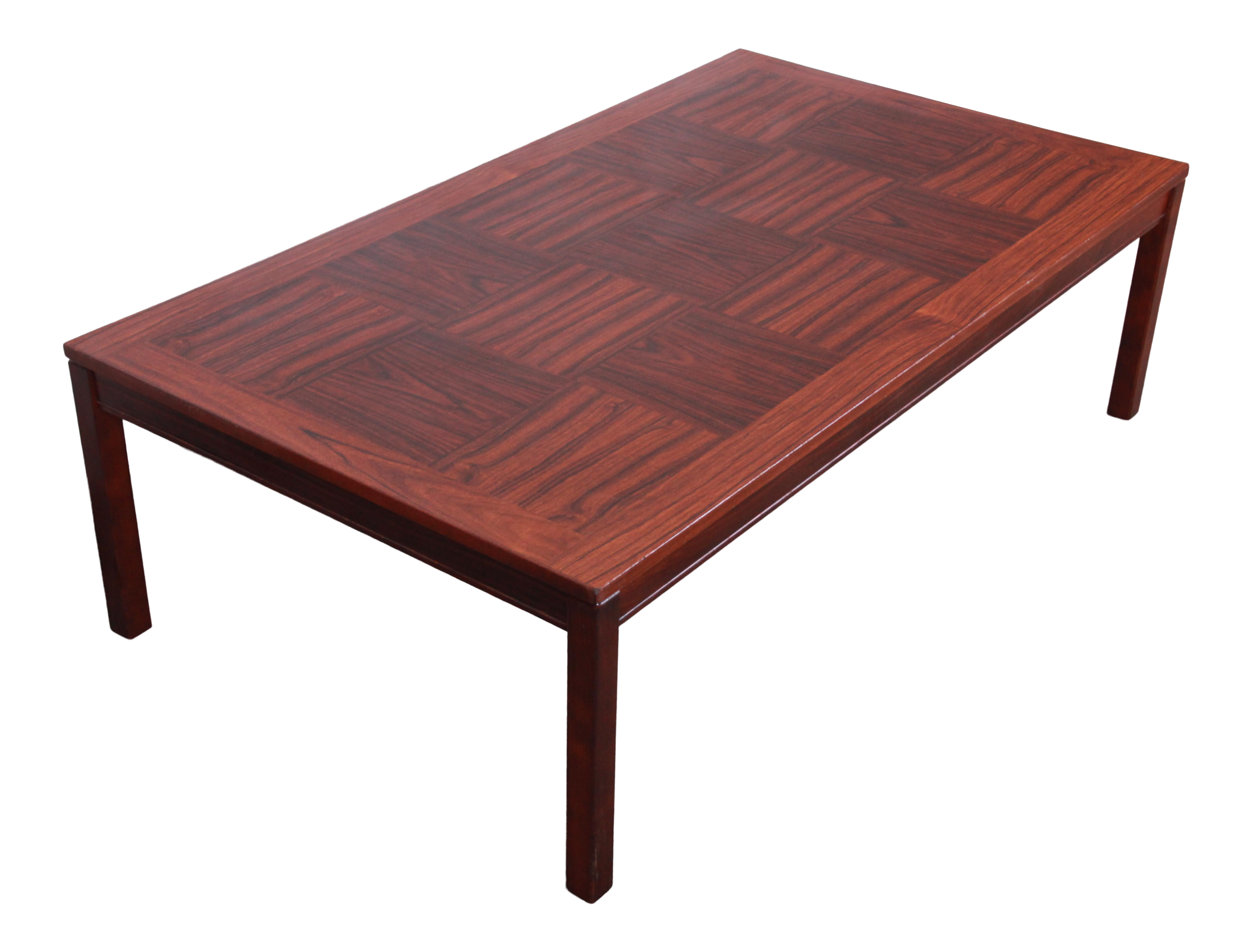 Exceptionnel Heggen Scandinavian Modern Patchwork Rosewood Coffee Table For Sale