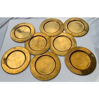 1970s Hollywood Regency Vintage Brass Chargers - Set of 8 Preview