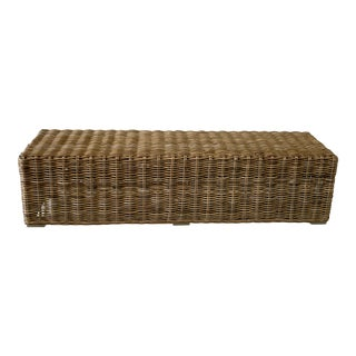 Woven Reed Long Bench For Sale