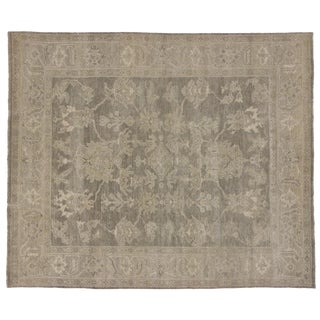 Transitional Area Rug With Oushak Design in Warm, Neutral Colors - 08'01 X 09'09 For Sale