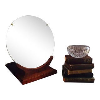 1950s Vintage Art Deco Style Shaving Mirror For Sale