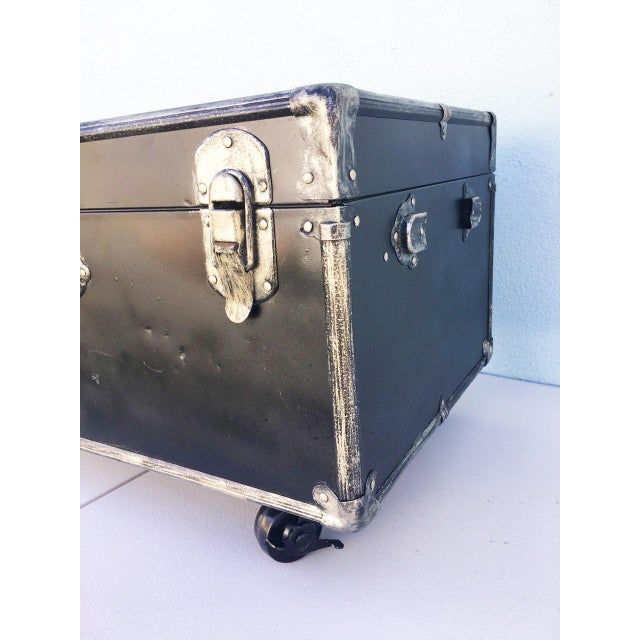 Upcycled WWII Trunk on Wheels For Sale In Los Angeles - Image 6 of 9