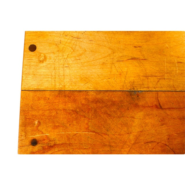 Butcher Block Table with Knife Rack - Image 4 of 5