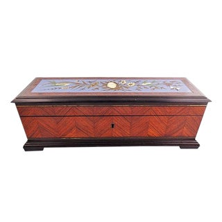 Late 19th Century Vintage French Kingwood and Enamel Box For Sale