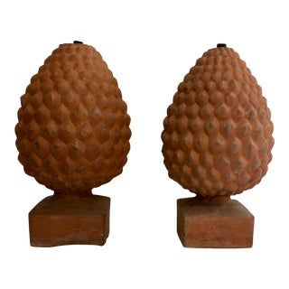 French Terracotta Pine Cone Farm Garden Post Newells For Sale