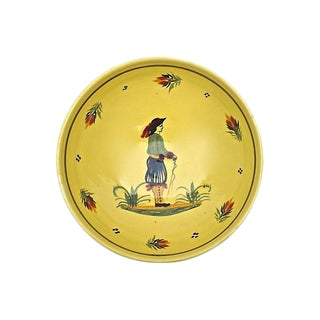 Vintage Henriot Quimper Hiker Bowl For Sale