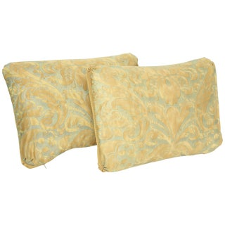 Baroque Fortuny Oblong Cushions in Caravaggio Pattern - a Pair For Sale