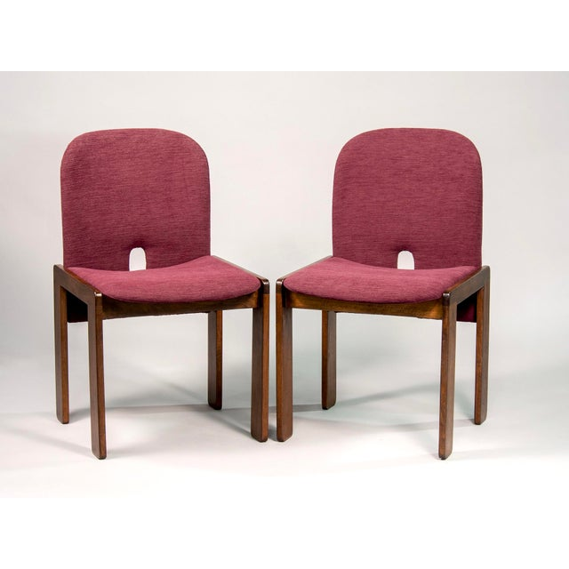 Mid-Century Modern Afra and Tobia Scarpa 121 Walnut Dining Chairs for Cassina, Set of 8 For Sale - Image 3 of 11