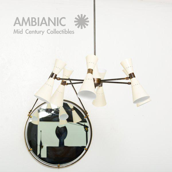 Not Yet Made - Made To Order Brass Wall Hanging Mirror For Sale - Image 5 of 9