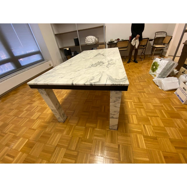 1970s 1970s Vintage Calacatta Marble Dining Table For Sale - Image 5 of 13