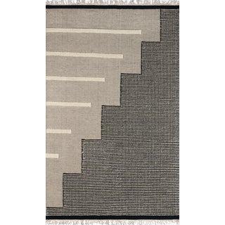 Novogratz by Momeni Karl Jules in Black Rug - 2'X8' Runner For Sale