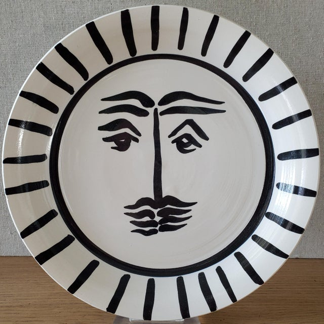 Picasso Style Abstract Sun Pottery Bowl For Sale In Dallas - Image 6 of 6