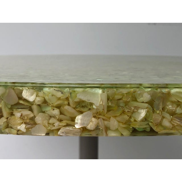 Vintage Resin and Seashell Biomorphic Top Dining Table For Sale - Image 10 of 11