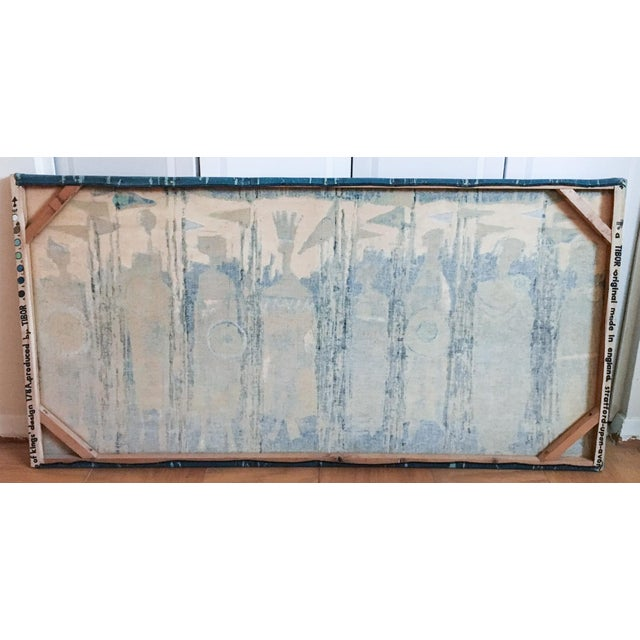 The Age of Kings in Blue Textile Art by Tibor Reich For Sale - Image 10 of 11